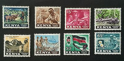 8 wonderful old stamps Kenya