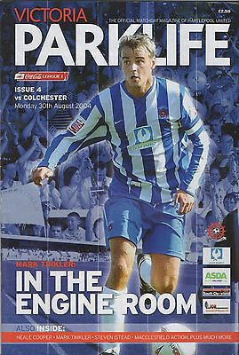 Hartlepool v Colchester United programme, League 1, 2004-05