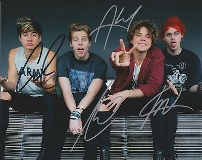5 Seconds Of Summer High Gloss Signed Autograph Coa - 5Sos Luke Hemmings