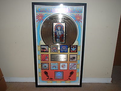 "GRATEFUL DEAD RIAA GOLD RECORD AWARD ""Golden Road 1965-1973"" GORGEOUS CUSTOM JOB"