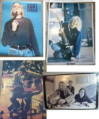 NIRVANA POSTERS 1990's Vintage Lot of 4 Live On Stage