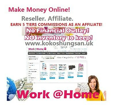 Work From Home Reseller Affiliate EARN 5 TIERS COMMISSIONS Make Money Online
