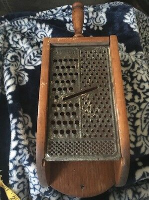Vintage Wall Wood Cheese Grater Box