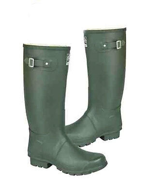 Ladies Wellingtons Woodland Wide Fitting in Dark Green in Size UK3 -15