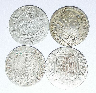 Beautiful Lot Of 4  Medieval Silver Hammered Coins - Great Details - Z252