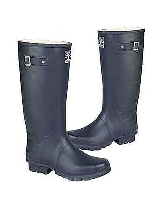 Ladies Wellingtons Woodland Wide Fitting in Dark Navy Blue in Size UK3 - 15