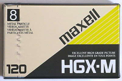 Lot of 2, Maxell HGX-M Video Cassette, 8mm,120 Min Recording, Factory Sealed