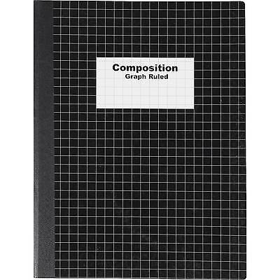 "Staples Graph Composition Book, 9.75"" x 7.5"" Graph Paper Notebook, Black"
