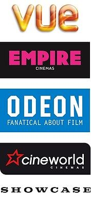2-for-1 CINEMA MOVIES TICKET CODE For TUE WED Vue Cineworld Odeon