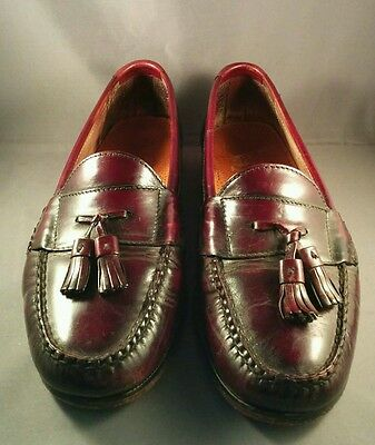 Cole Haan Burgundy Leather Pinch Tassel Loafers Men's size 9 1/2M 03507
