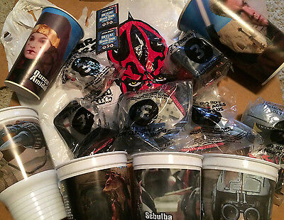 Star Wars Complete Toy set of 6 Special Edition + Episode 1 Cups + MANY Extras!