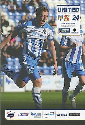 Colchester United v Swindon Town programme, Skybet League One, 2014/15