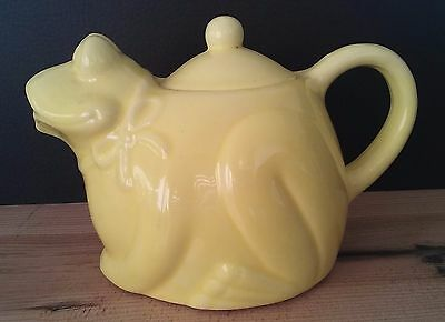 Yellow frog / toad teapot