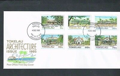 TOKELEAU ISLANDS 1985 ARCHITECTURE (1st SERIES) FDC