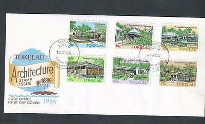 TOKELEAU ISLANDS 1986 ARCHITECTURE (2nd SERIES) FDC