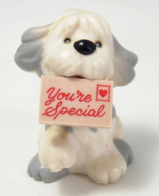 """RUSS BERRIE """"You're Special"""" Old English Sheepdog Sheep Dog PVC Figure VALENTINE"""