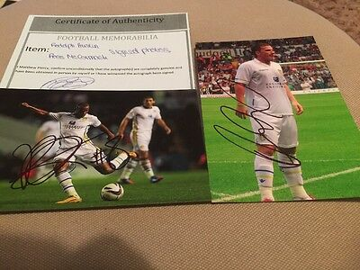 2 Autographed Leeds United Pictures
