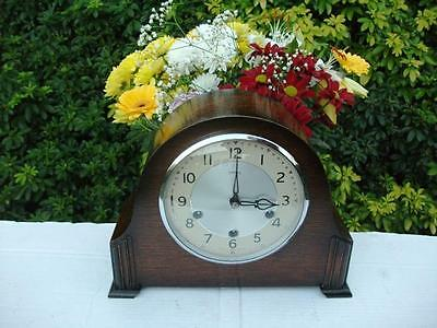 Stunning Smiths 8 Day Westminster Chiming Mantel Clock. 1956. Fully Overhauled.