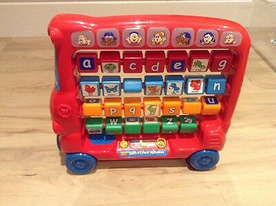 Vtech Spin And Learn Alphabet Bus With Musical Sounds