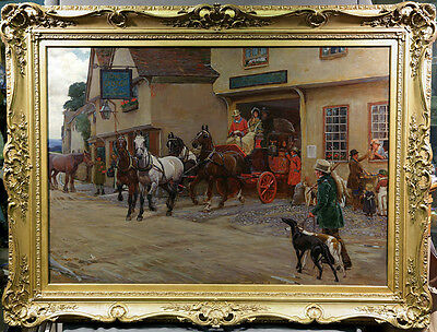 19th Century British Painting Cecil Charles Windsor Aldin 1870-1935 Horses