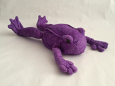 """ANIMAL ALLEY Toys R Us purple LARGE FROG TOAD 21"""" plush stuffed animal toy 2000"""