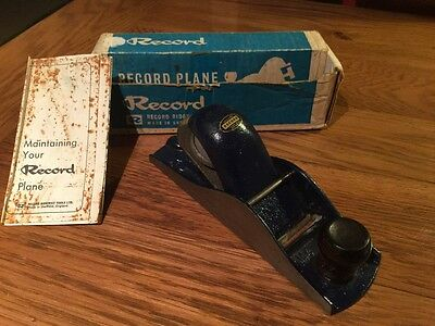 Vintage Record Wood Plane No 0110 In Original Box With Instructions