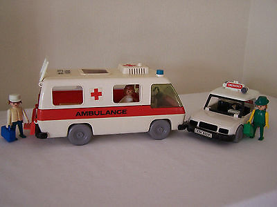 Vintage Playpeople Ambulance and Doctor's Car