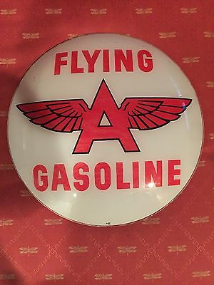 2 Flying A gasoline globe lens inserts. Appear to be New Old Stock