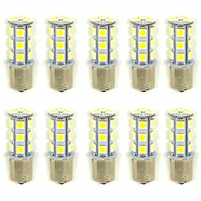 10 X White 1156 BA15S 18-SMD 5050 LED Light bulbs Turn Signal Backup Reverse 12V
