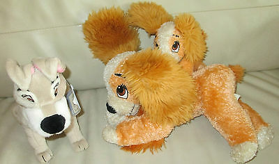 "16"" Lady And The Tramp Lush & Her Pup + 9"" Scamp Soft Toys Washed & Retagged"