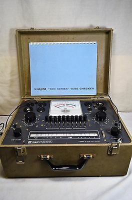 Vintage Knight 600 Series Tube Checker Tester w/ Case Tested & Working w/ Manual