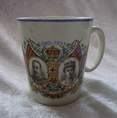 Vintage King George V & Queen Mary 1935 Ideal Silver jubilee Mug