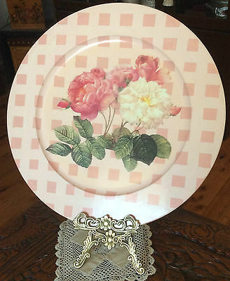 1 Decorative Art Decoupage Plate 49 cm Shabby Chic Wall Hanging Craft Home Decor