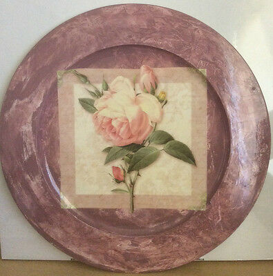 1 x Decorative Art Decoupage Plate 49 cm Shabby Chic Wall Hanging Home Decor