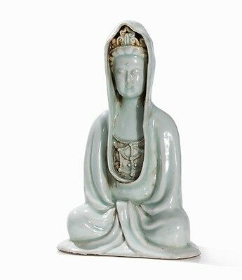 Qingbai-Glazed Figure of a Guanyin China, Qing dynasty (1644-1911)