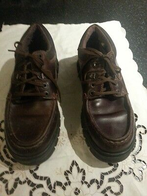 Moto brown leather shoes size 9.5 uk