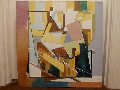 Vibrant and stunning abstract painting on canvas, frustratingly unsigned.
