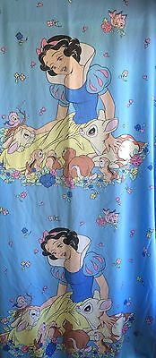 Vintage Disney Snow White Twin Fitted Sheet & Pillowcase Fabric Crafts