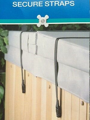 Secure Straps Spa Covers Hold Down Fastening Hot Tub Stormy Weather Windy Winter