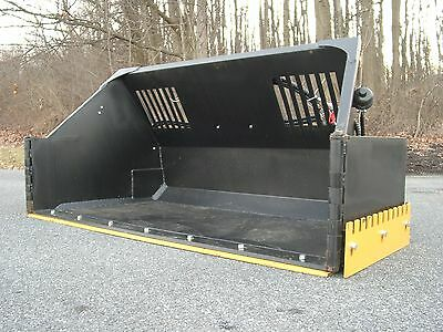 Super Snow Bucket Skid Steer Attach with Hydraulic Wings Pusher Box or Plow