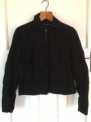 French connection black winter jacket Size M