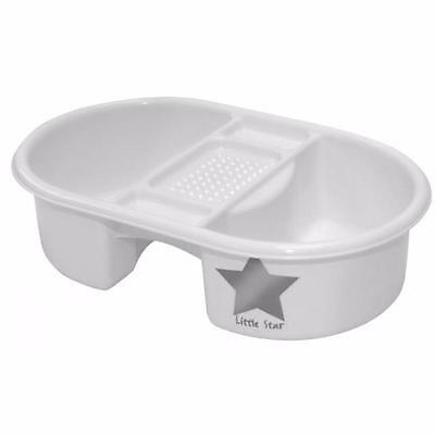 Strata Deluxe Baby Top and Tail Bowl White with Silver Star