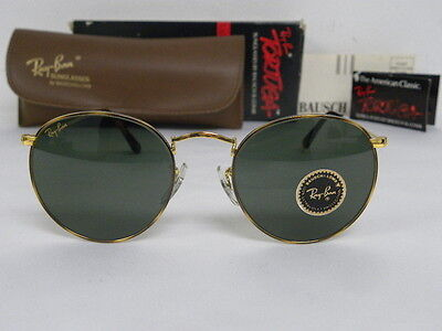 usa ray ban sunglasses  new vintage b&l ray ban round metal gold tortuga g 15 49mm sunglasses usa nos