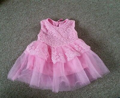 BNWT Baby Girls 0-3 months Pink Party Dress