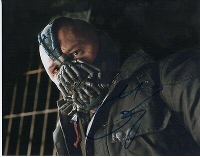 Tom Hardy Batman Bane  Authentic Hand Signed 10-8 Photo