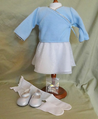 American Girl Very Rare Retired Blue Ice Holiday Outfit - Complete - New + Box