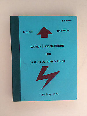 Electrified Lines Instruction BR - 1975 - AC Electrified Lines BR 29987