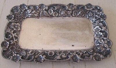 Antique S. KIRK & SON Sterling Silver REPOUSSE CARD TRAY 80 Grams No. 83