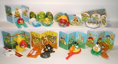 *_* ANGRY BIRDS 1 + 8 bpz Complete set Kinder