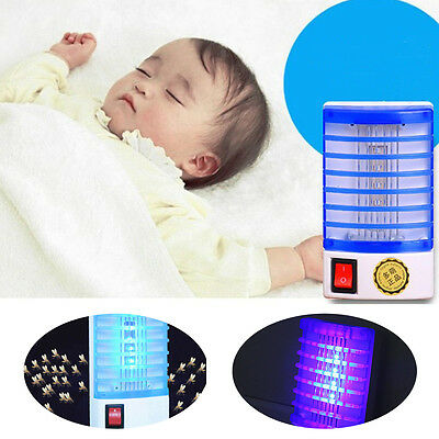 New LED Socket Electric AD Mosquito Fly Bug Insect Night Lamp Killer Zapper #H